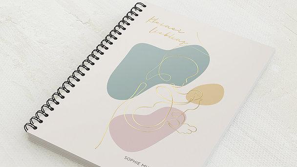 Baby-Tagebuch Spiralbindung - Babytagebuch Kleckse