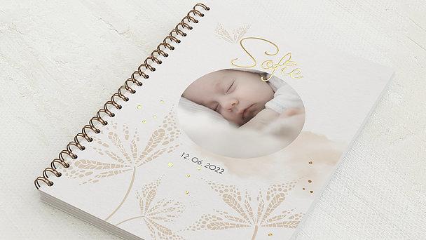Baby-Tagebuch Spiralbindung - Babytagebuch Blätterdruck