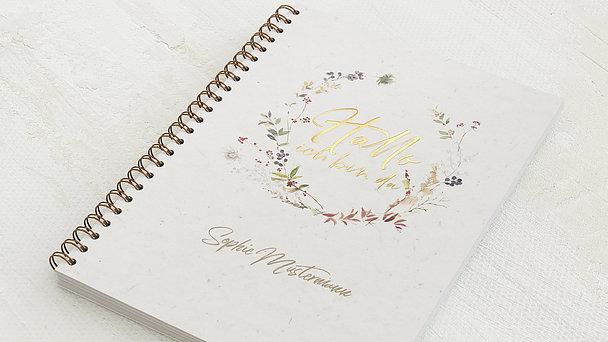 Baby-Tagebuch Spiralbindung - Babytagebuch Kranz