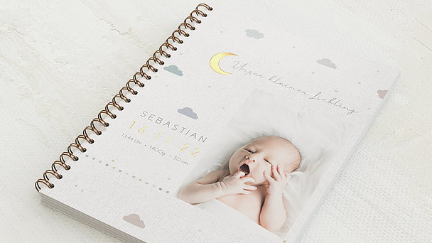 Baby-Tagebuch Spiralbindung - Babytagebuch Moon