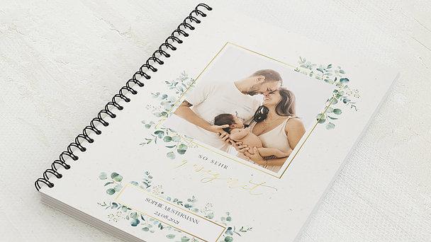 Baby-Tagebuch Spiralbindung - Babytagebuch Gesegnet