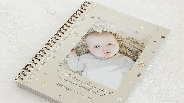 Baby-Tagebuch Spiralbindung - Babytagebuch Adventure