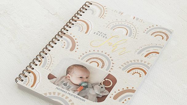 Baby-Tagebuch Spiralbindung - Babytagebuch Rainbow