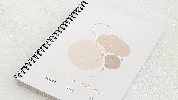 Baby-Tagebuch Spiralbindung - Babytagebuch Dots