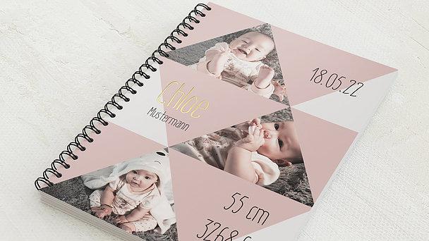 Baby-Tagebuch Spiralbindung - Babytagebuch Triangel