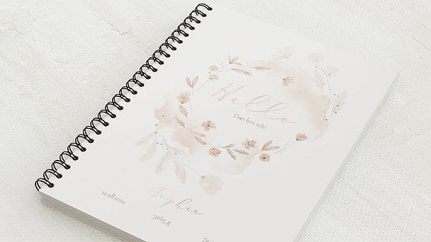 Baby-Tagebuch Spiralbindung - Babytagebuch Blütentraum