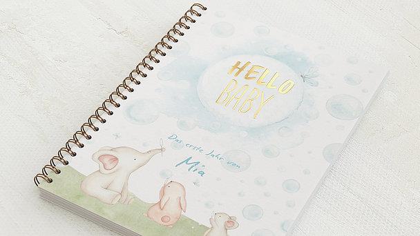 Baby-Tagebuch Spiralbindung - Babytagebuch Tierchen