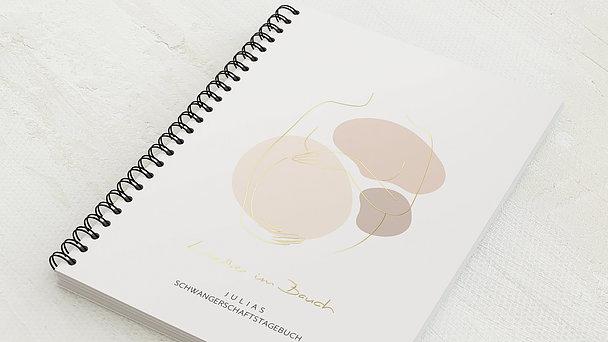 Schwangerschafts-Tagebuch Spiralbindung - Schwangerschaftstagebuch Dots