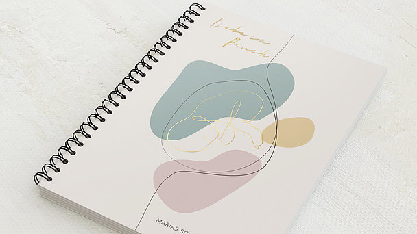 Schwangerschafts-Tagebuch Spiralbindung - Schwangerschaftstagebuch Kleckse