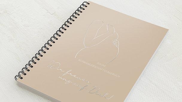 Schwangerschafts-Tagebuch Spiralbindung - Schwangerschaftstagebuch Linie