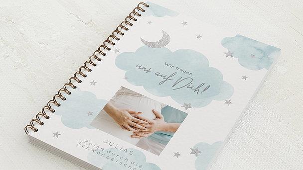 Schwangerschafts-Tagebuch Spiralbindung - Schwangerschaftstagebuch Night