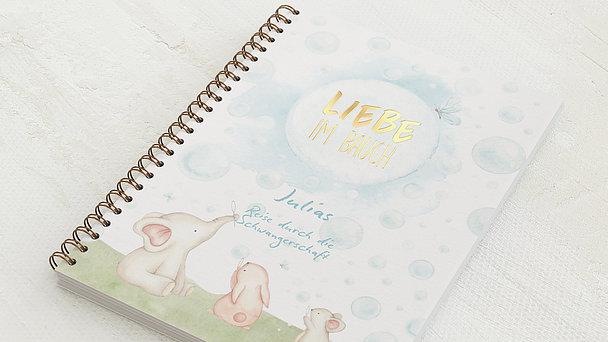 Schwangerschafts-Tagebuch Spiralbindung - Schwangerschaftstagebuch Tierchen