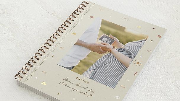Schwangerschafts-Tagebuch Spiralbindung - Schwangerschaftstagebuch Adventure