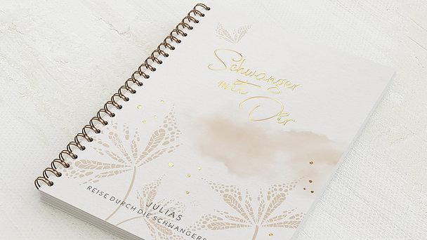 Schwangerschafts-Tagebuch Spiralbindung - Schwangerschaftstagebuch Blätterdruck