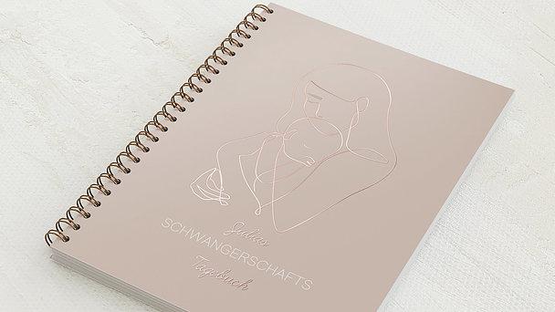Schwangerschafts-Tagebuch Spiralbindung - Schwangerschaftstagebuch Outlines