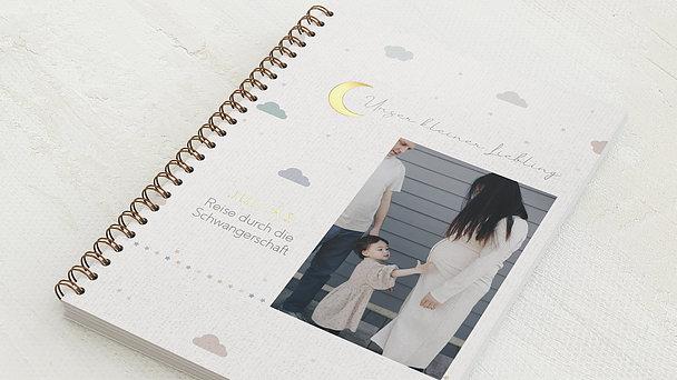 Schwangerschafts-Tagebuch Spiralbindung - Schwangerschaftstagebuch Moon