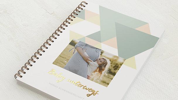 Schwangerschafts-Tagebuch Spiralbindung - Schwangerschaftstagebuch Logik