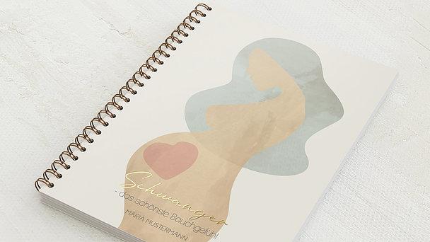 Schwangerschafts-Tagebuch Spiralbindung - Schwangerschaftstagebuch Mama