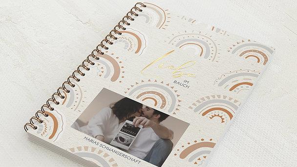 Schwangerschafts-Tagebuch Spiralbindung - Schwangerschaftstagebuch Rainbow