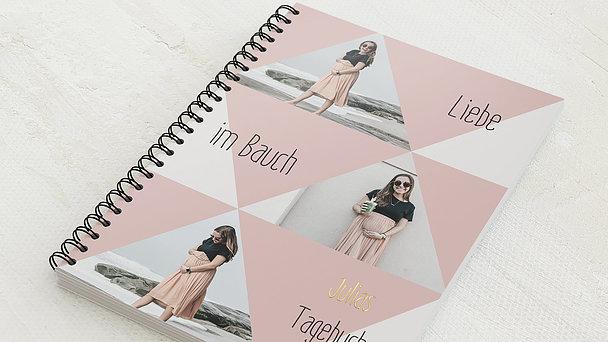 Schwangerschafts-Tagebuch Spiralbindung - Schwangerschaftstagebuch Triangel
