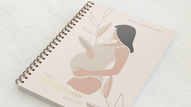 Schwangerschafts-Tagebuch Spiralbindung - Schwangerschaftstagebuch Naturell