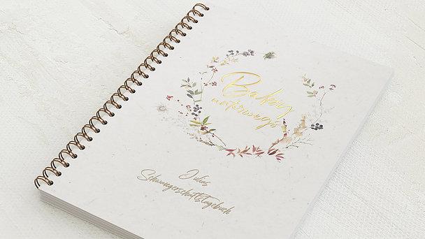 Schwangerschafts-Tagebuch Spiralbindung - Schwangerschaftstagebuch Kranz