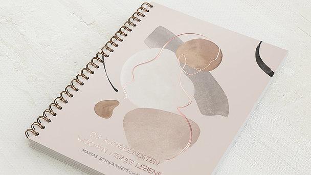 Schwangerschafts-Tagebuch Spiralbindung - Schwangerschaftstagebuch Erdtöne