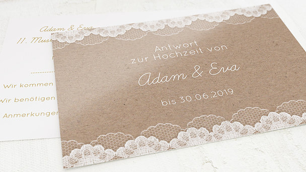 Antwortkarte - Hochzeitsspitze