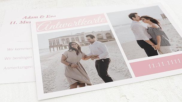 Antwortkarte - Hochzeitscollage