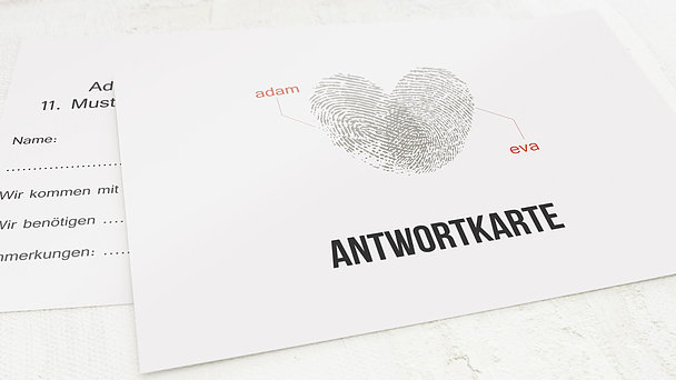 Antwortkarte - Fingerprint