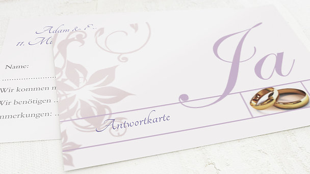 Antwortkarte - Weiße Hochzeit