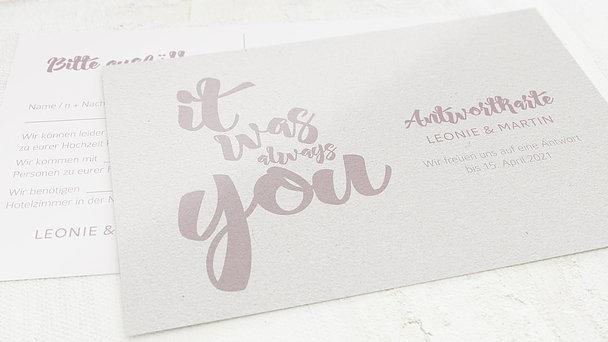 Antwortkarte - Always you