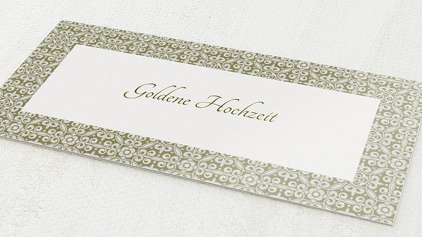 Goldene Hochzeit - goldene hochzeit danksagungen gestalten