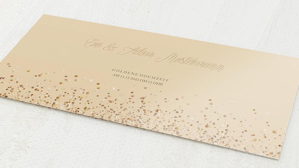 Goldene Hochzeit Gold Geflitter Detail