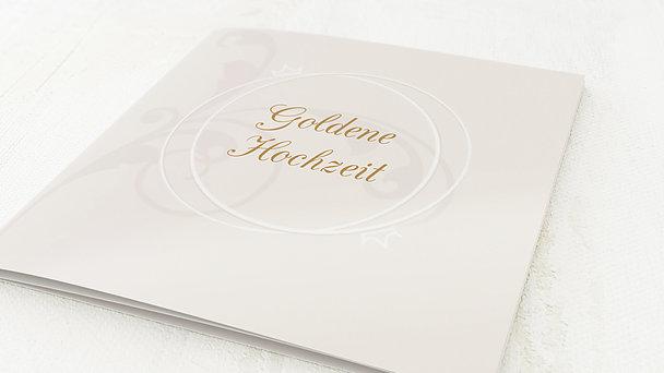 Goldene Hochzeit - goldene hochzeit einladung gestalten