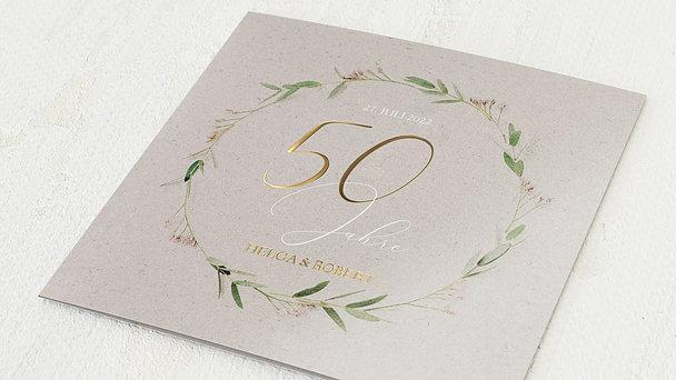 Goldene Hochzeit - Filigrane Ranke