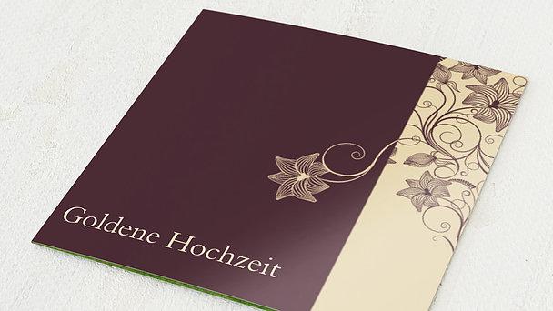 Goldene Hochzeit - goldene hochzeit danksagungskarten