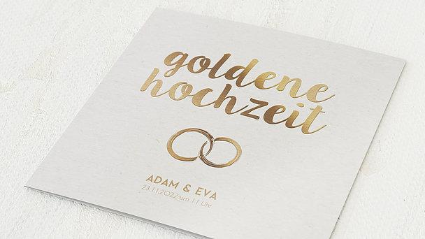 Goldene Hochzeit - Edles Gold