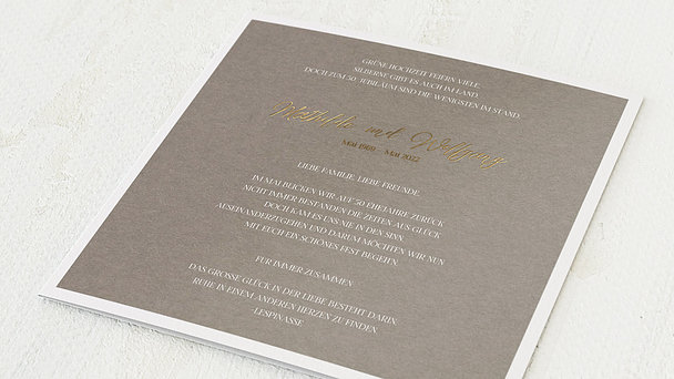 Goldene Hochzeit - Goldenes Titelblatt