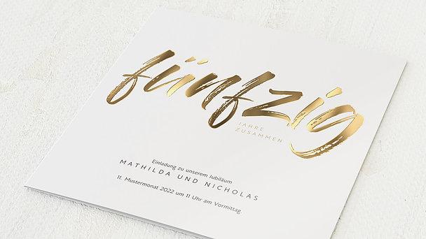 Goldene Hochzeit - Goldener Jahrestag
