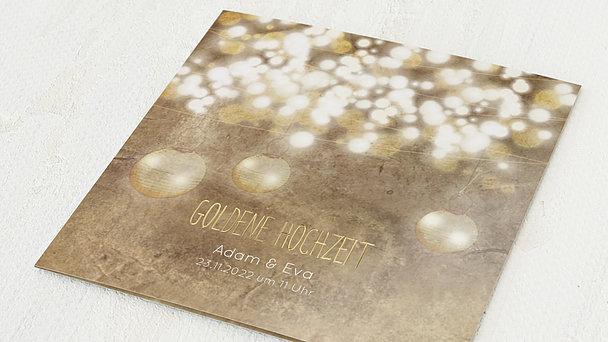 Goldene Hochzeit - Luminaria gold