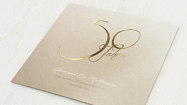 Goldene Hochzeit - Goldglanz