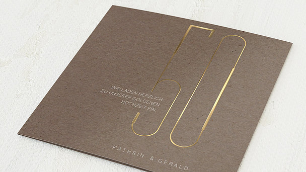 Goldene Hochzeit - Goldkunst
