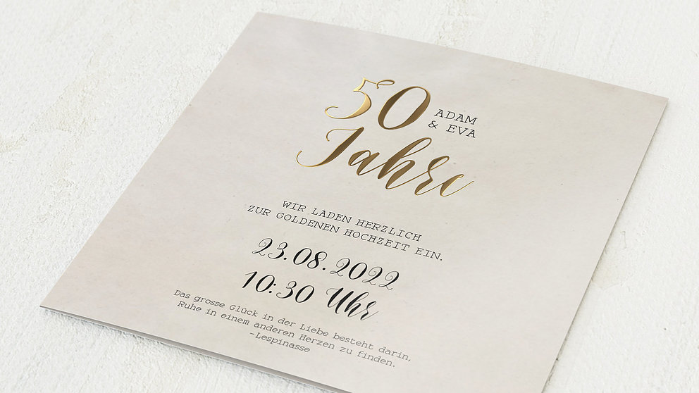 Kerze Goldene Hochzeit 50 Jahre Im Gluck