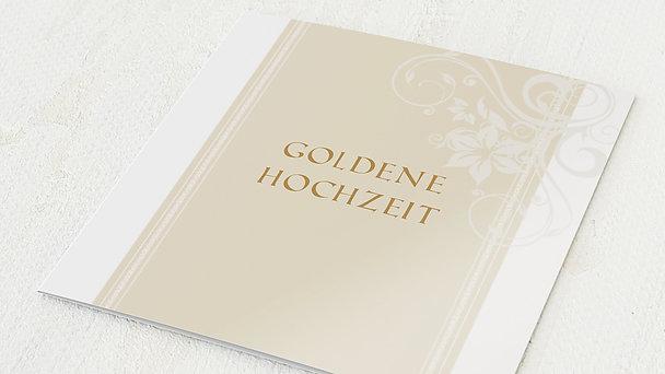 Goldene Hochzeit - goldene hochzeit dankeskarten druck