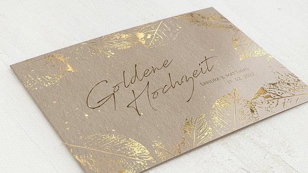 Goldene Hochzeit - Filigrane Blätter