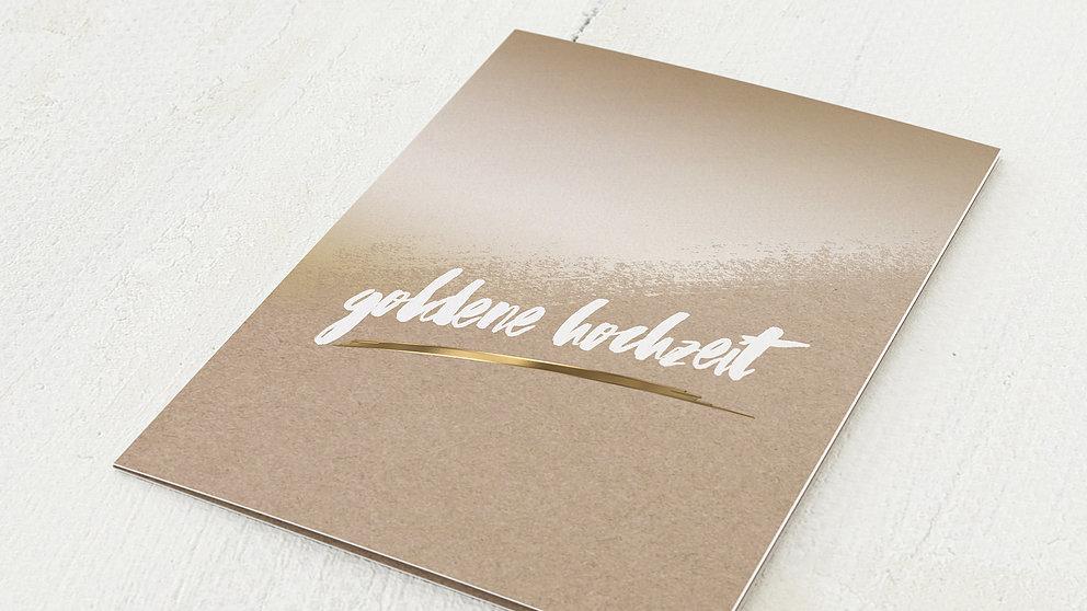 Goldene Kontraste Vertikale Klappkarte 105x148 Hellgelb