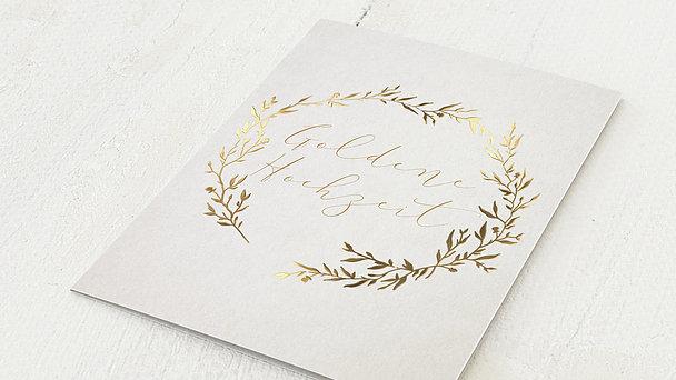Goldene Hochzeit - Rankenzauber Gold