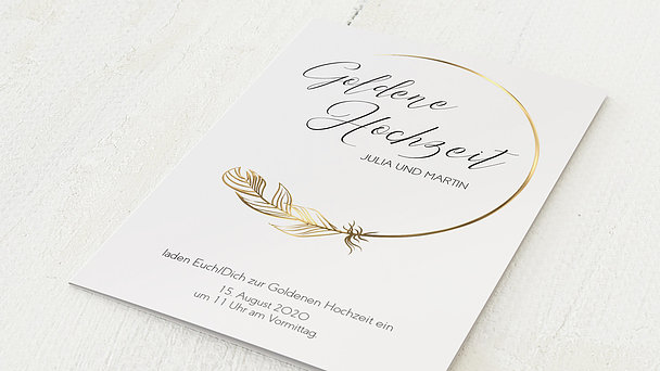 Goldene Hochzeit - Goldener Glücksfunke