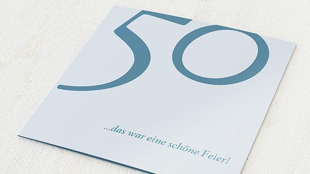 Danksagung Geburtstag - Meine Fünfzig